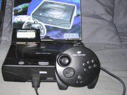 Saturn med Memory-card og Nights 3D-controller 2/5