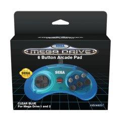 Controller 6 Button (Retro-Bit) (Clear Blue)