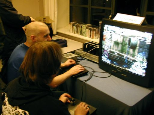dRxL og Le Roof spiller 2d fighter på Neo Geo. 17/100