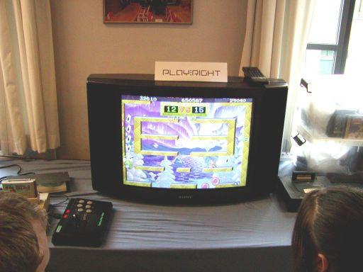 <a href='info/soeg?titel=Bubble Symphony&_submit=1'>Bubble Symphony</a> til Sega Saturn. 2d platformspil af den bedste slags fra Taito. 35/99