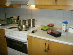 Efter en halv time i køkkenet er der ikke sket de store fremskridt... 48/60