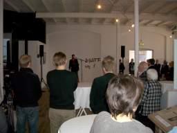 Vitus Westergaard fortæller om udstillingen. 3/13