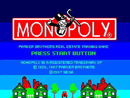 Monopoly (SMS)   © Parker Bros. 1988    1/3