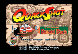 QuackShot (SMD)  © Sega 1991   1/3