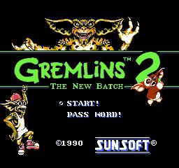 Gremlins 2: The New Batch (NES)  © SunSoft 1990   1/3