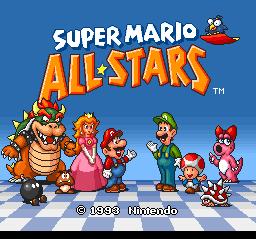 Super Mario All-Stars (SNES)  © Nintendo 1993   1/6