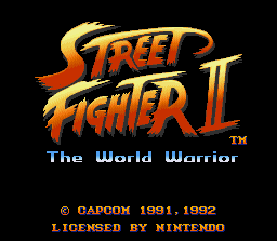 Street Fighter II (SNES)   © Capcom 1992    1/3