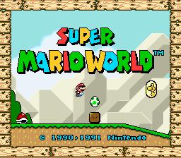 Super Mario World (SNES)  © Nintendo 1990   1/4
