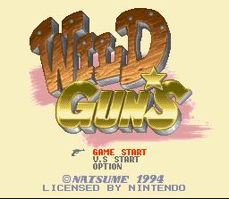 Wild Guns (SNES)  © Natsume 1994   1/5