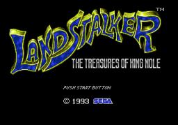 Landstalker: The Treasures Of King Nole (SMD)  © Sega 1992   1/3