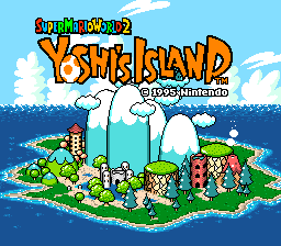 Super Mario World 2: Yoshi's Island (SNES)  © Nintendo 1995   1/3