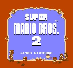 Super Mario Bros. 2 (NES)  © Nintendo 1988   1/3
