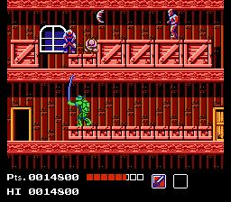 Teenage Mutant Ninja Turtles (NES)  © Palcom 1989   2/3