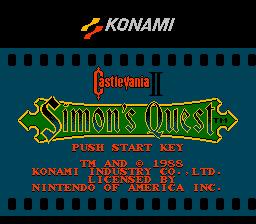 Castlevania II: Simon's Quest  © Konami 1988  (NES)   1/13