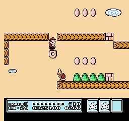 Super Mario Bros. 3 (NES)  © Nintendo 1988   38/40