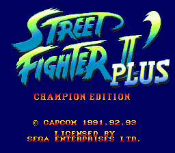 Street Fighter II': Special Champion Edition (SMD)   © Capcom 1993    1/3