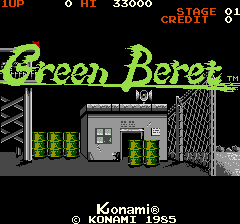 Green Beret (ARC)   © Konami 1985    1/6