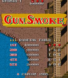 Gun Smoke (ARC)  © Capcom 1985   1/4