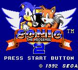 Sonic The Hedgehog 2 (GG)  © Sega 1992   1/2