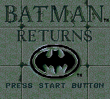 Batman Returns (GG)   © Sega 1992    1/3