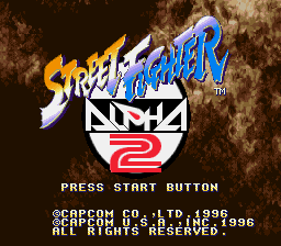 Street Fighter Alpha 2 (SNES)   © Capcom 1996    1/5