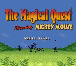 Magical Quest (SNES)  © Capcom 1992   1/3