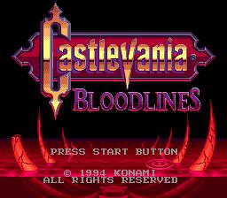Castlevania: Bloodlines (SMD)  © Konami 1994   1/4