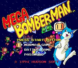 Mega Bomberman (SMD)  © Hudson 1994   1/3