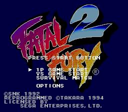 Fatal Fury 2 (SMD)  © Takara 1994   1/5