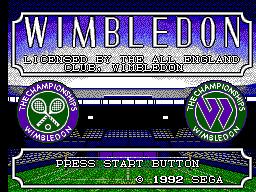 Wimbledon (SMS)  © Sega 1992   1/3