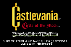 Castlevania: Circle Of The Moon (GBA)   © Konami 2001    1/9