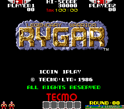 Rygar: The Legendary Warrior (ARC)  © Tecmo 1986   1/5