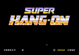Super Hang-On (ARC)  © Sega 1987   1/3