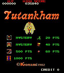 Tutankham (ARC)  © Konami 1982   1/3
