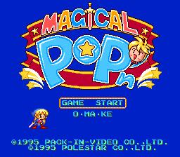 Magical Pop'n (SNES)  © Pack-In-Video 1995   1/3
