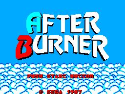 After Burner (SMS)  © Sega 1987   1/9
