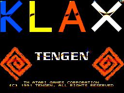 KLAX (SMS)  © Tengen 1991   1/3