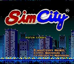 SimCity (SNES)  © Nintendo 1991   1/3