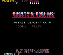 Ghosts 'N Goblins (ARC)   © Capcom 1985    1/8
