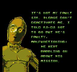 Star Wars (1991) (NES)  © JVC 1991   2/3