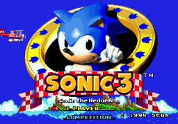 Sonic The Hedgehog 3 (SMD)  © Sega 1994   1/3