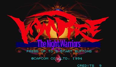 Darkstalkers: The Night Warriors (ARC)  © Capcom 1994   23/23