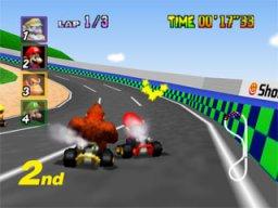 Mario Kart 64  © Nintendo 1996  (N64)   2/3