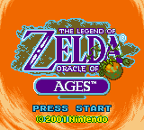 The Legend Of Zelda: Oracle Of Ages (GBC)   © Nintendo 2001    1/3