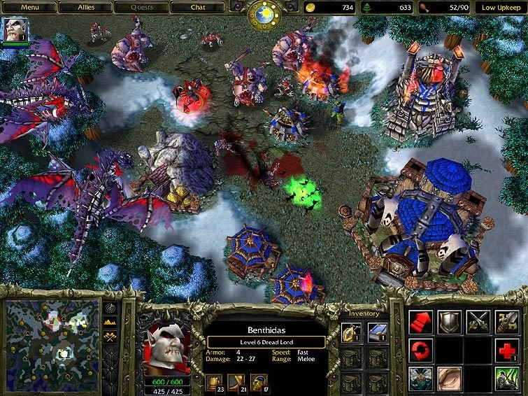 Warcraft III: Reign Of Chaos (PC)   © VU Games 2002    4/5