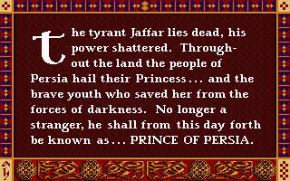 Prince Of Persia (PC)  © Brøderbund 1989   25/25