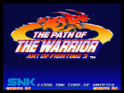 Art Of Fighting 3: Path Of The Warrior (MVS)   © SNK 1996    1/6