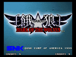 Garou: Mark Of The Wolves (MVS)   © SNK 1999    1/6