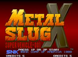 Metal Slug X (MVS)  © SNK 1999   1/5