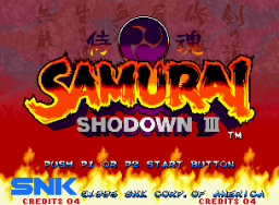 Samurai Shodown III: Blades Of Blood (MVS)   © SNK 1995    1/5